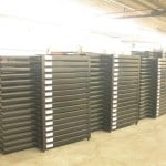 Returnable Crates - folded and stacked